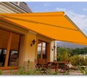 balkon tentesi kasetli ışıklı sarı otomatik kumandalı
